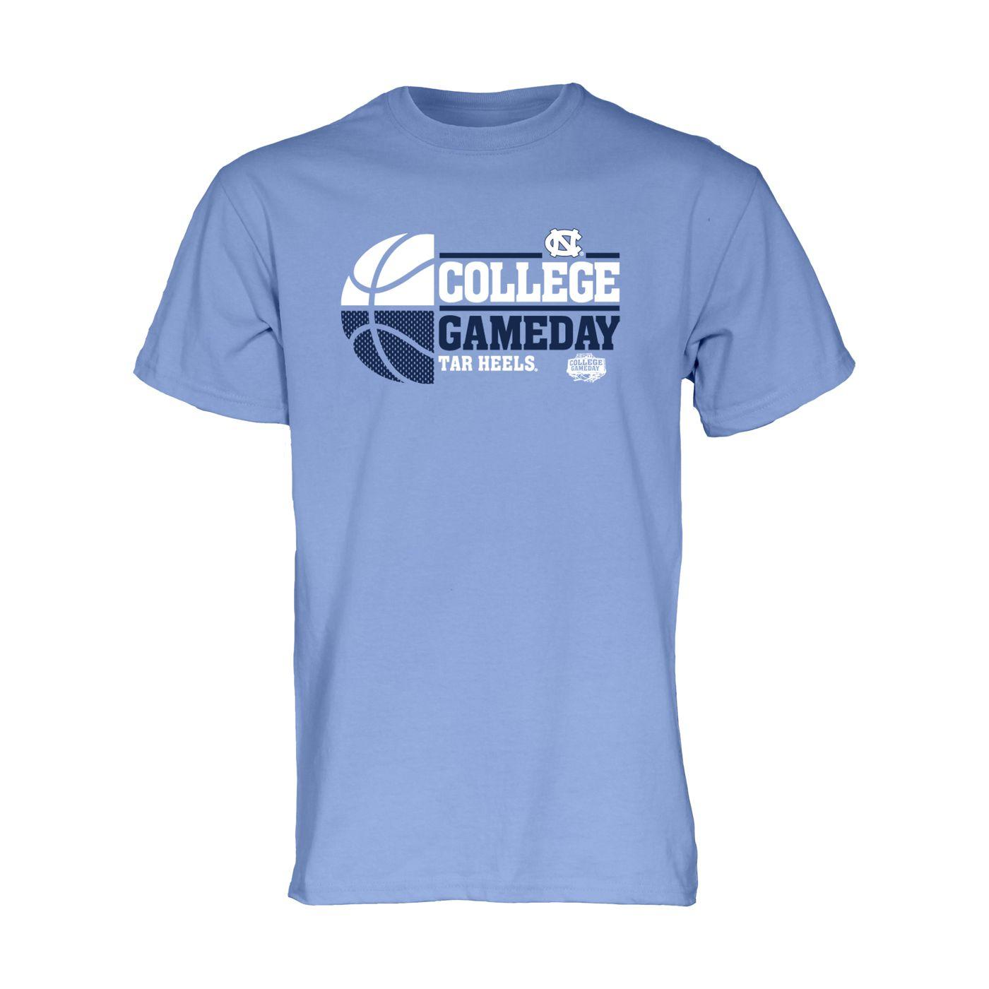 johnny t shirt north carolina tar heels basketball espn college gameday basketball t cb. Black Bedroom Furniture Sets. Home Design Ideas