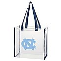 Clear Tote with Navy Border
