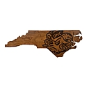 Small Wooden State Map Wall Hanging