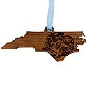 Wooden State Map Ornament
