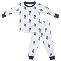 Toddler Strutting Ram Organic Cotton 2-Piece PJ Set (White)