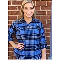 Ladies' L/S Silver Ridge Flannel Shirt (CB/Navy Plaid)