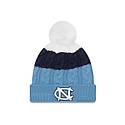 Youth (Girls') Layered Cable Knit Toboggan (CB/Navy/White)