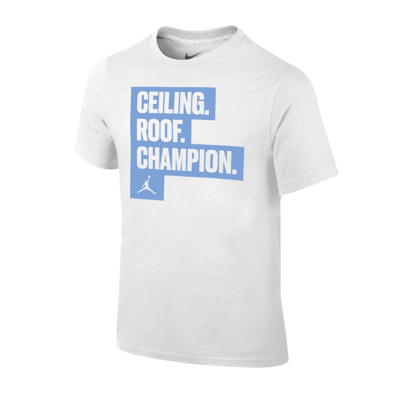 johnny t-shirt - north carolina tar heels - youth ceiling roof