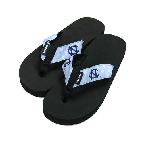 6d9de1f228e0 Johnny T-shirt - North Carolina Tar Heels - Ladies  Polka Dot Flip Flops by  Toegoz