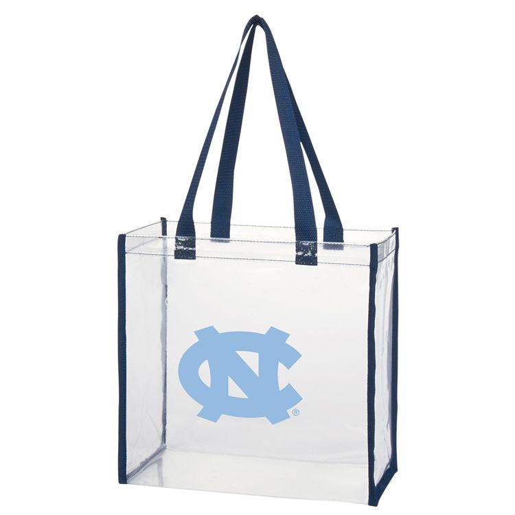 700a7990e0 Johnny T-shirt - North Carolina Tar Heels - Clear Tote with Navy Border by  Desden