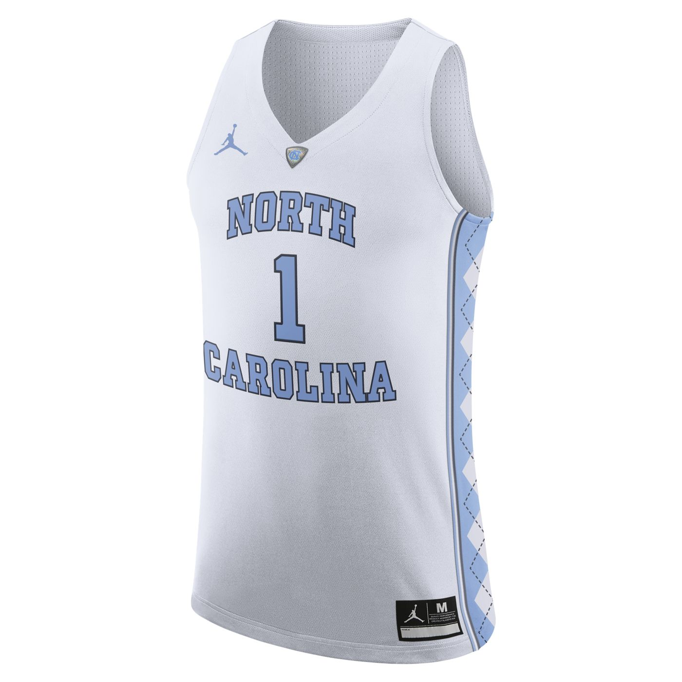 detailed look 59e5e 20d9f Nike #1 Authentic Basketball Jersey (White) by Nike