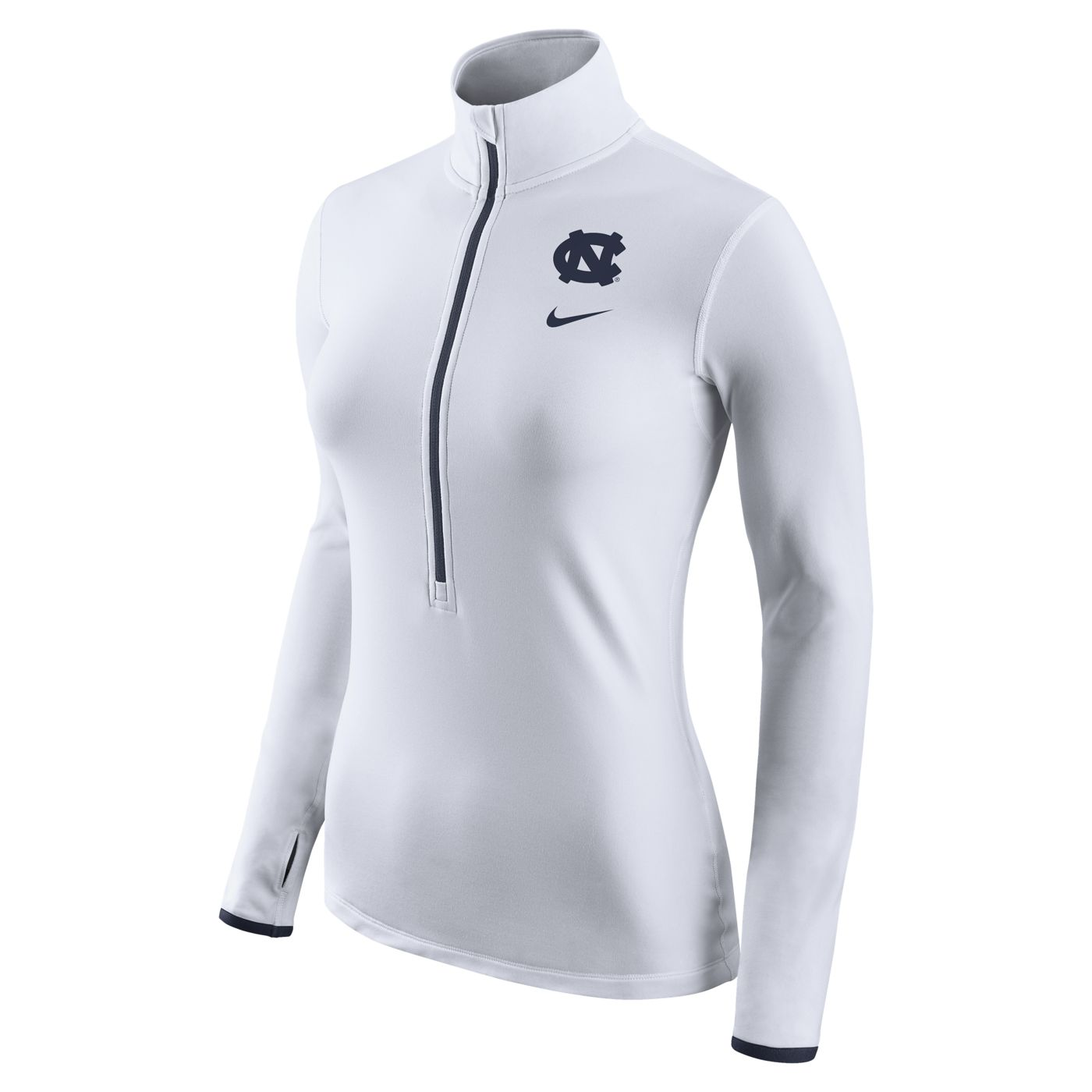 watch afd6f 6e7b1 Nike Ladies' Pro HyperWarm 1/2-Zip Pullover (White) by Nike