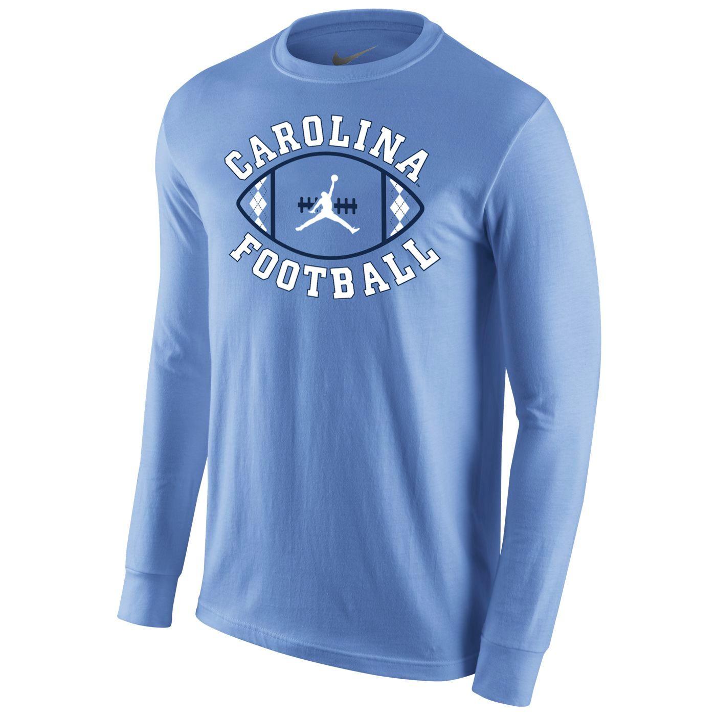 cd376b55639 Johnny T-shirt - North Carolina Tar Heels - Nike Long Sleeve Football  Activation Jumpman T (CB) by Nike