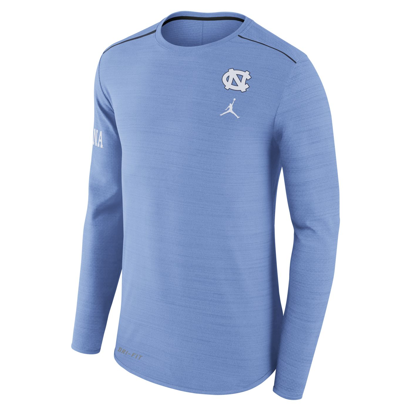 c55ca335b680 Johnny T-shirt - North Carolina Tar Heels - Nike Long Sleeve Dry Breathe  Player T (CB Heather) by Nike