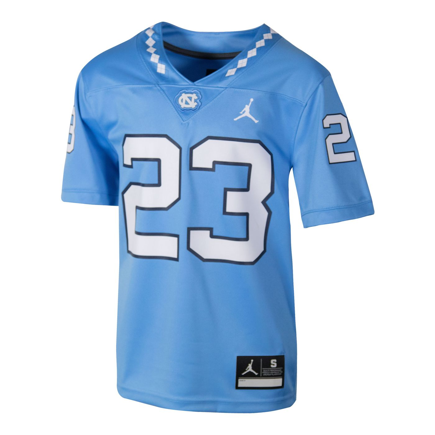 Johnny T-shirt - North Carolina Tar Heels - Youth  23 Game Replica Jumpman Football  Jersey (CB) by Nike 2430077b7