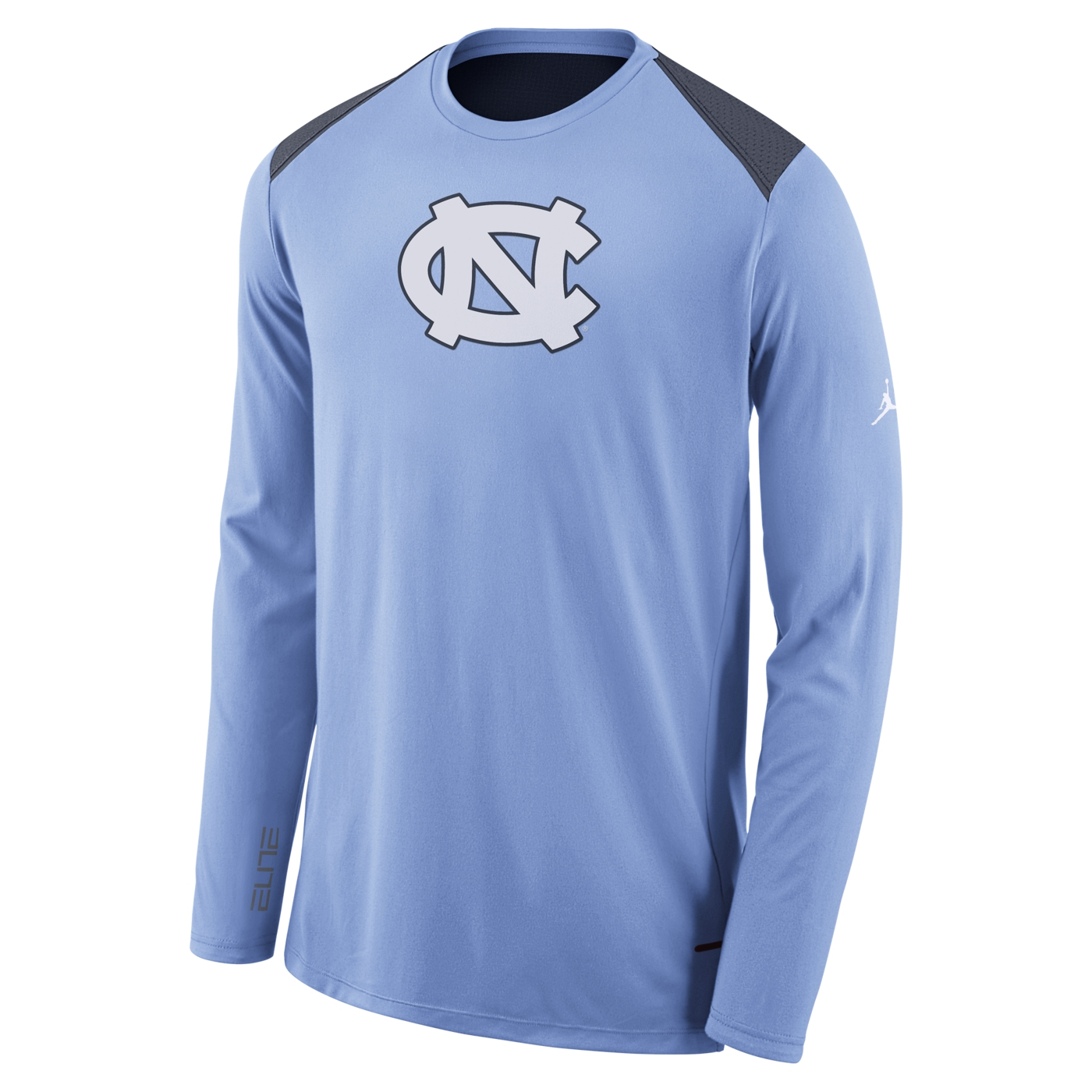 9b0e6ec478b1 Johnny T-shirt - North Carolina Tar Heels - Basketball - Nike Long Sleeve  Basketball Shooting Shirt (CB Navy) by Nike