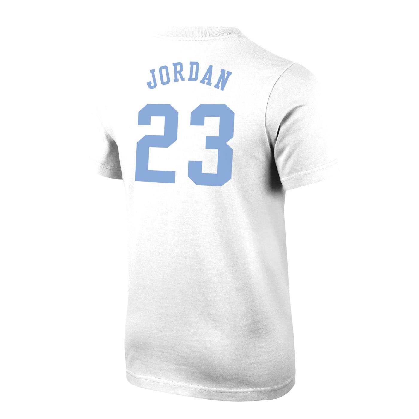 ddc873356459a6 Johnny T-shirt - North Carolina Tar Heels - Youth Jordan  23 Tar Heel Foot T  (White) by Nike