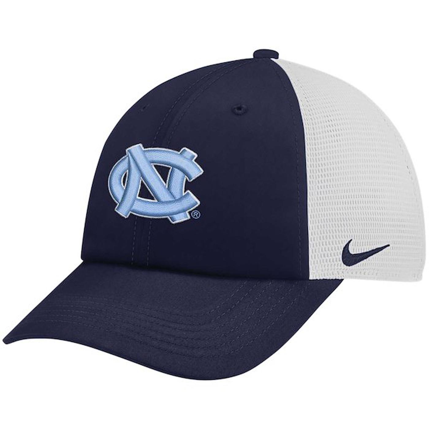 7cc35fbf718 Johnny T-shirt - North Carolina Tar Heels - Nike Heritage86 Mesh Trucker Hat  (Navy White) by Nike