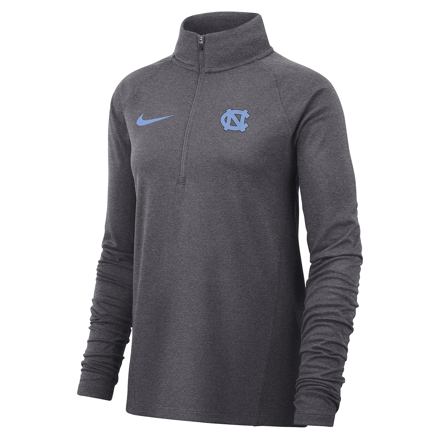 fb8bd10e2002 Johnny T-shirt - North Carolina Tar Heels - Nike Ladies  Core 1 2-Zip  Pullover (Grey) by Nike