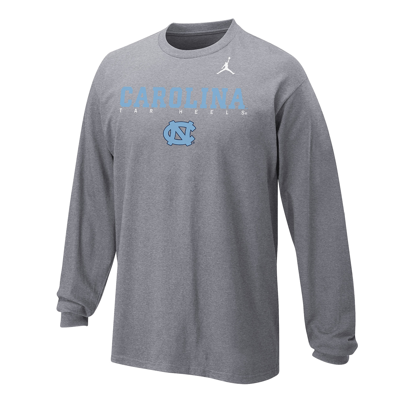 bda1f59e1b0a Johnny T-shirt - North Carolina Tar Heels - Youth Long Sleeve Facility T  (Grey) by Nike