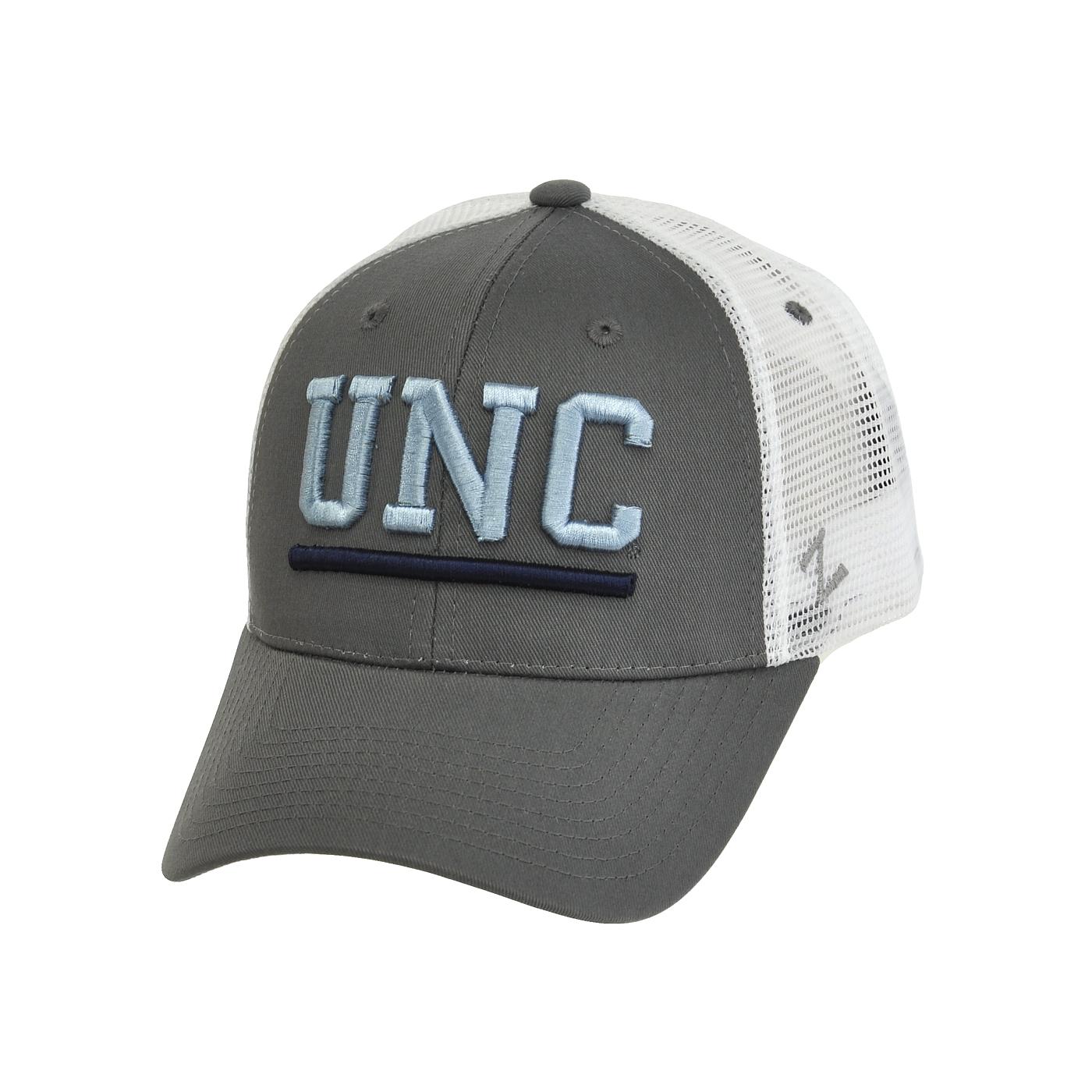 timeless design 9a9bd c5756 Johnny T-shirt - North Carolina Tar Heels - UNC Trucker Hat (Grey White) by  Zephyr