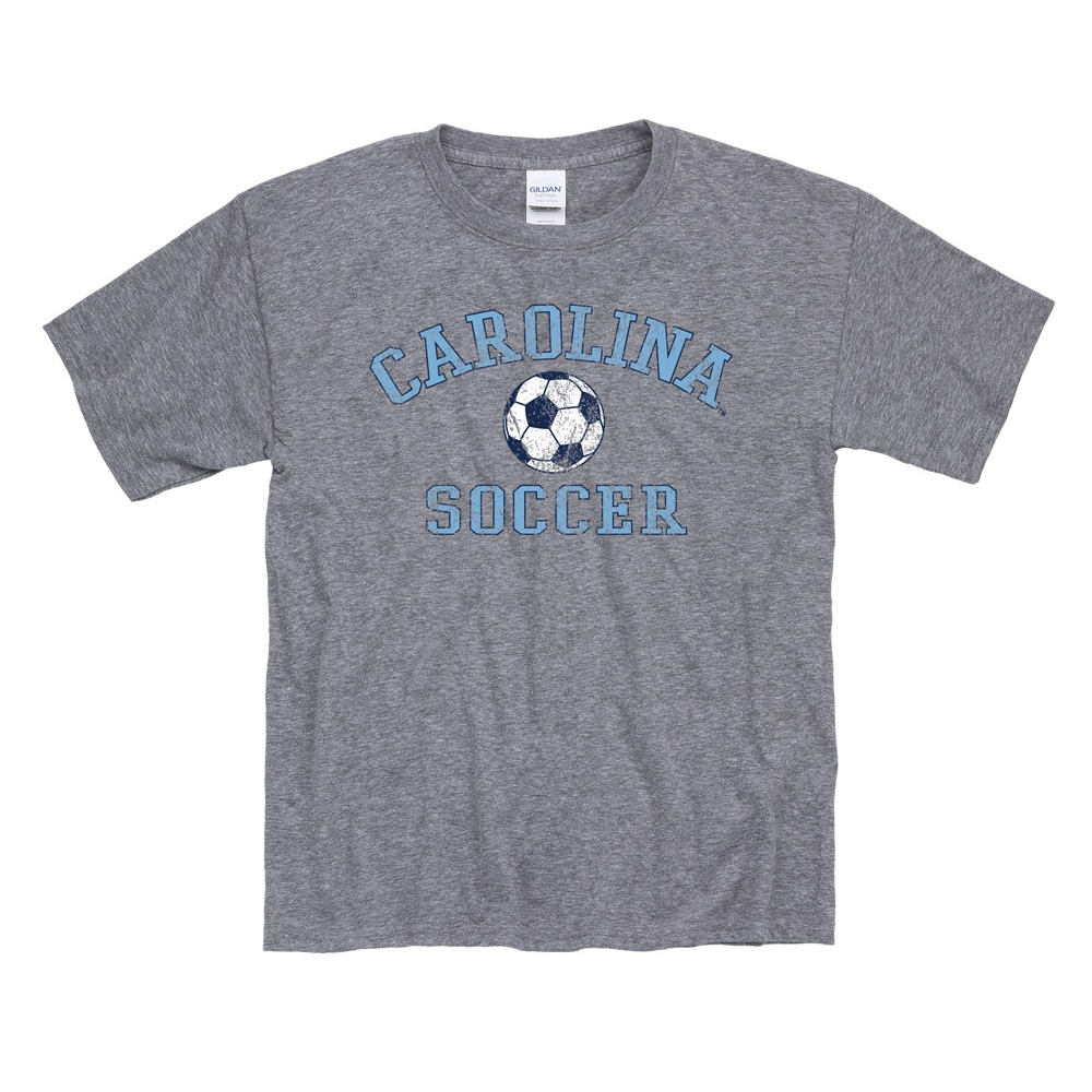 82afc25dd Johnny T-shirt - North Carolina Tar Heels - Youth Staple Vintage Soccer T  (Graphite Grey) by New Agenda