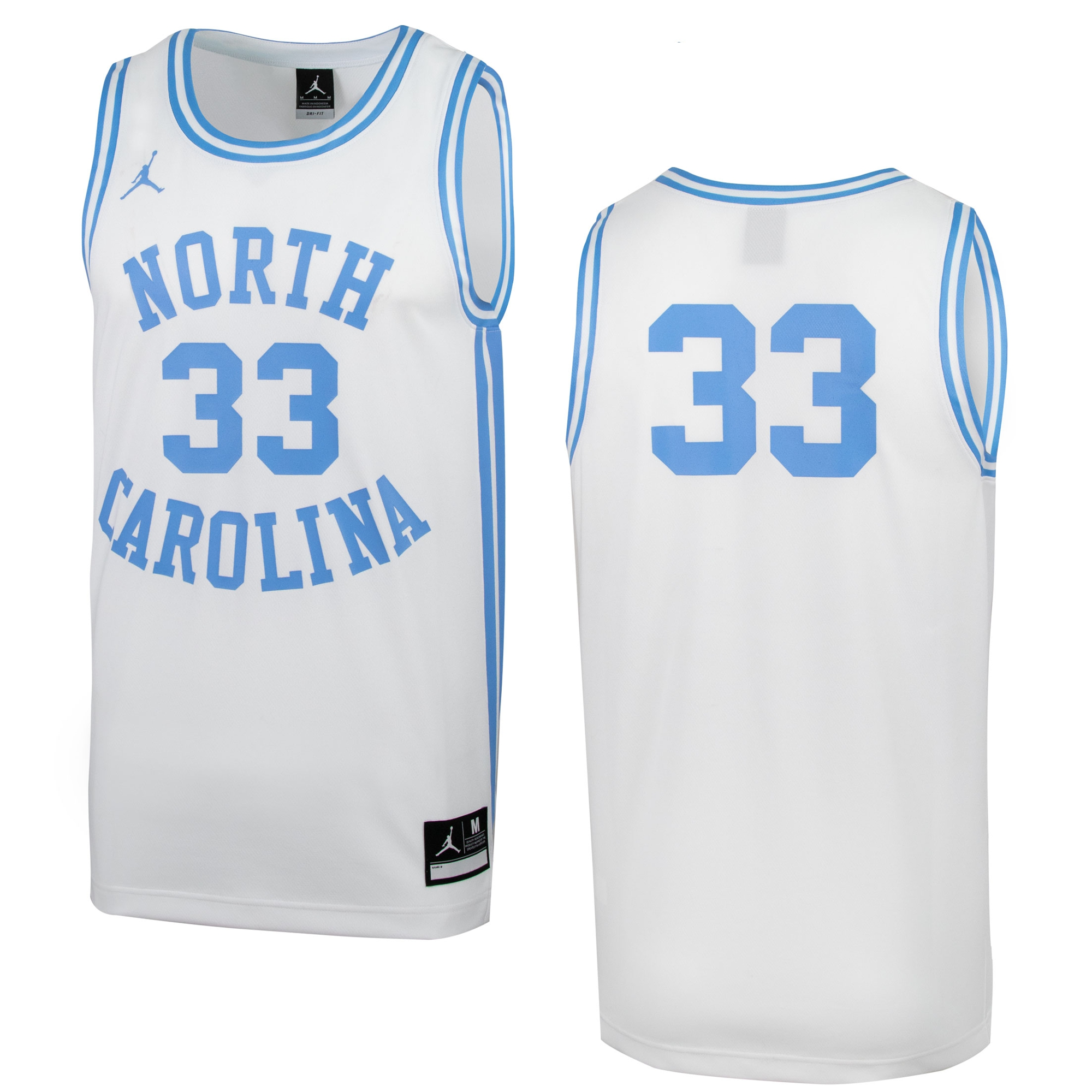 39b3f70cdf45 Johnny T-shirt - North Carolina Tar Heels - Nike  33 Retro Basketball Jersey  (White) by Nike